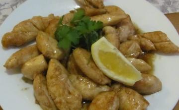 Пилешки филенца в соев сос